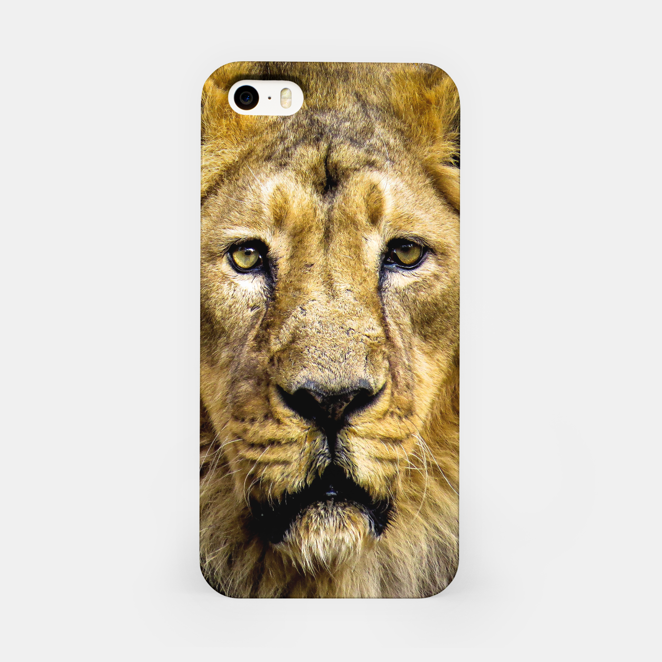 Image of Face of Lion iPhone Case - Live Heroes