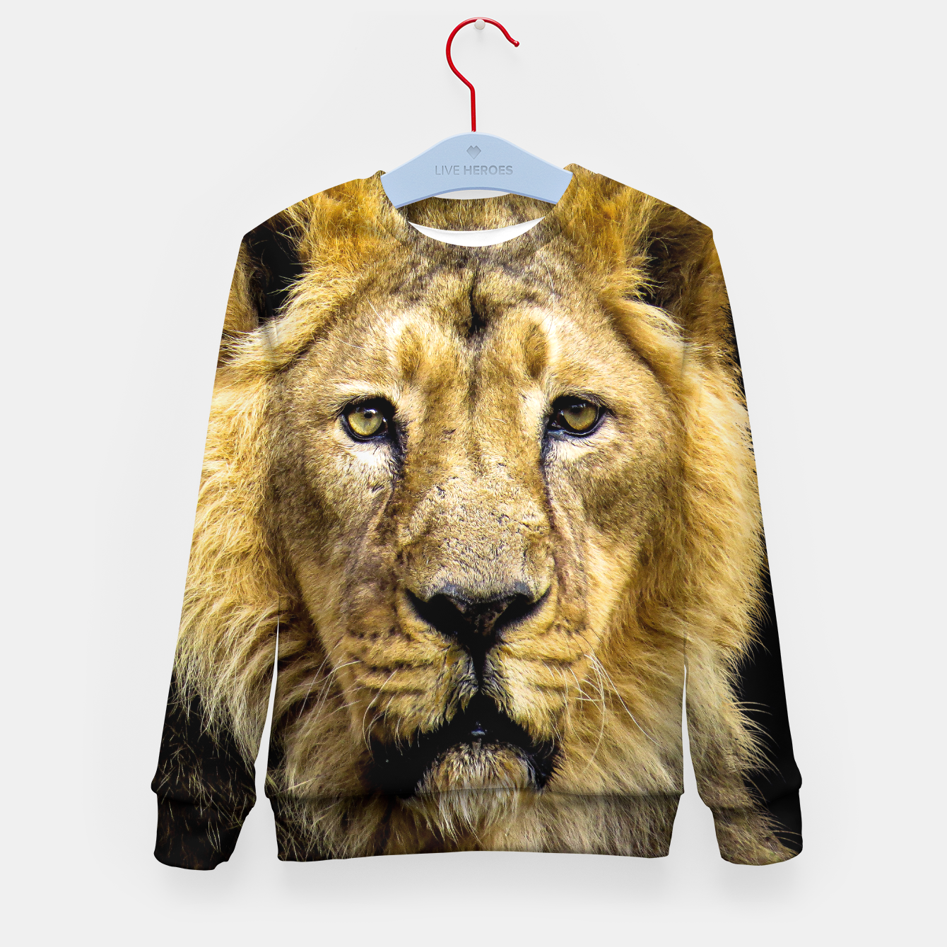 Image of Face of Lion Kid's sweater - Live Heroes