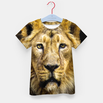 Face of Lion Kid's t-shirt thumbnail image