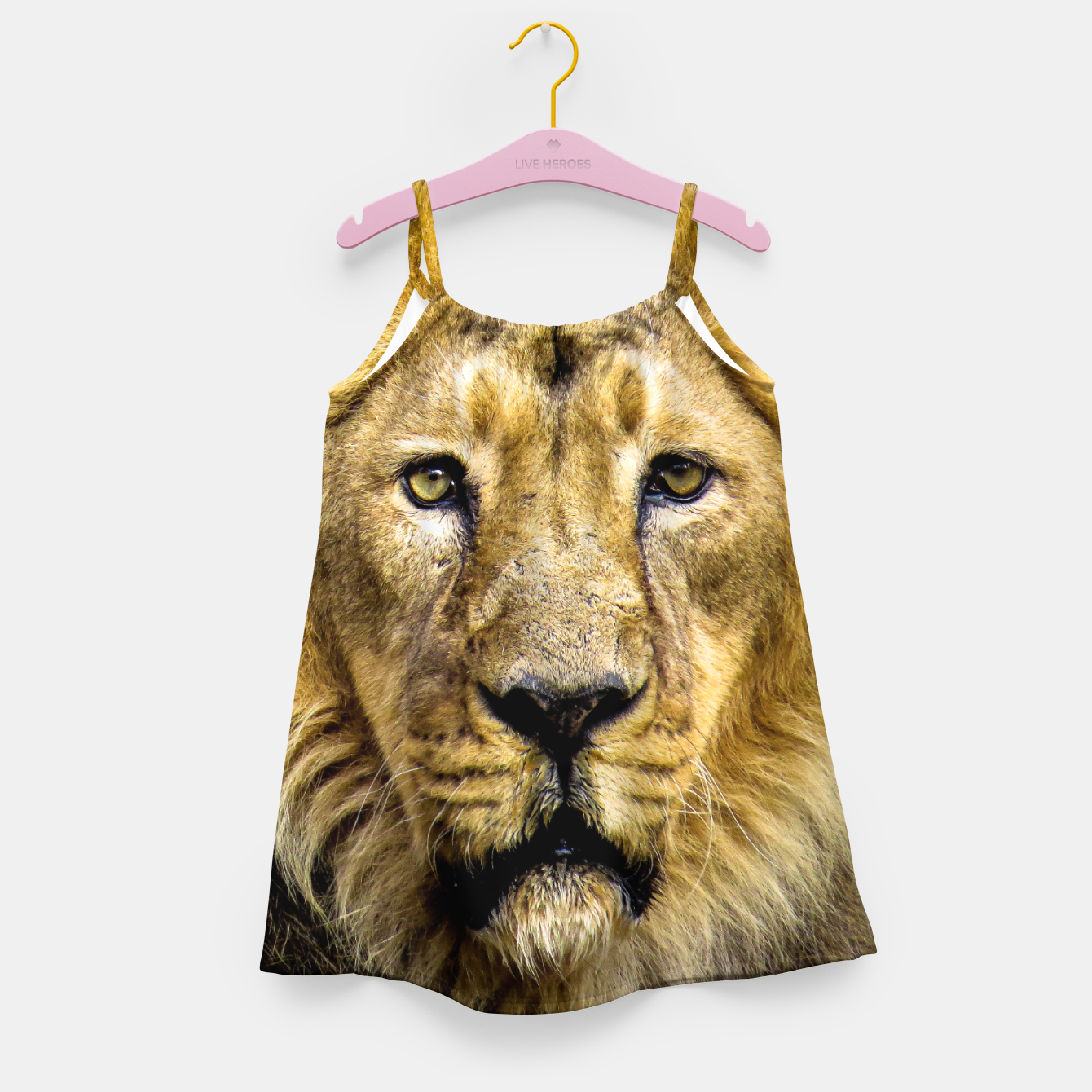 Image of Face of Lion Girl's dress - Live Heroes