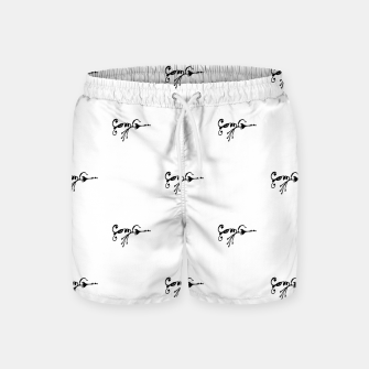 Thumbnail image of Tribal Style Black Symbol Drawing Swim Shorts, Live Heroes