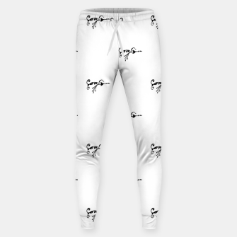 Miniature de image de Tribal Style Black Symbol Drawing Sweatpants, Live Heroes