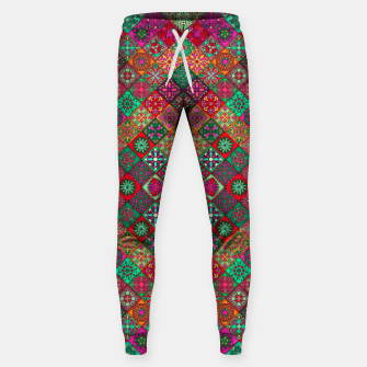 Thumbnail image of Traditional Floral Boho Moroccan Pattern Style Sweatpants, Live Heroes