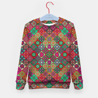 Thumbnail image of Traditional Floral Boho Moroccan Pattern Style Kid's sweater, Live Heroes