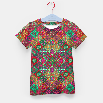 Miniatur Traditional Floral Boho Moroccan Pattern Style Kid's t-shirt, Live Heroes