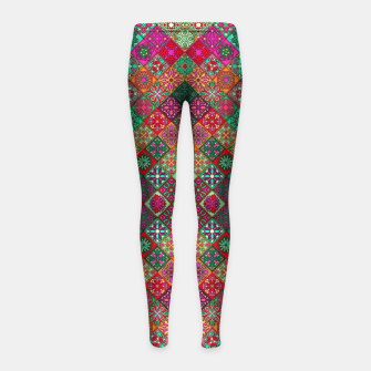 Thumbnail image of Traditional Floral Boho Moroccan Pattern Style Girl's leggings, Live Heroes