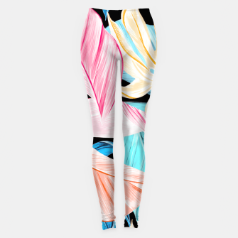 Miniaturka tropical leaves Leggings, Live Heroes