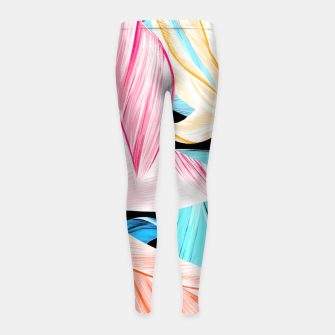 Miniaturka tropical leaves Leggings de fille, Live Heroes