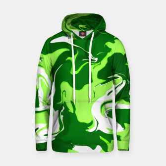 Miniatur Green Psychedelic Spill Unisex Hoodie, Live Heroes