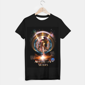 Thumbnail image of Empress Arzriani Art Nouveau Scifi Fractal Portrait T-shirt regular, Live Heroes