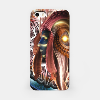 Thumbnail image of Empress Arzriani Art Nouveau Scifi Fractal Portrait ZMR iPhone Case, Live Heroes