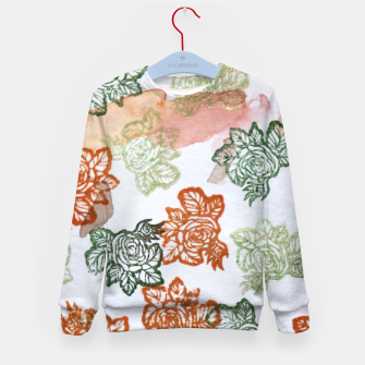 Thumbnail image of Retro Flora Kid's sweater, Live Heroes