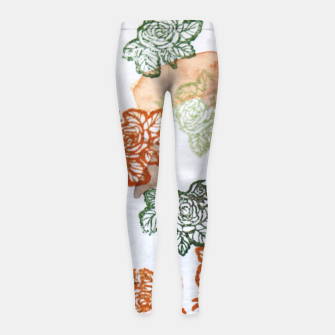 Miniatur Retro Flora Girl's leggings, Live Heroes
