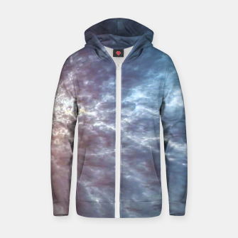 Miniature de image de Stormy Sky Abstract Print Zip up hoodie, Live Heroes