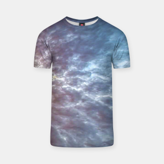 Miniature de image de Stormy Sky Abstract Print T-shirt, Live Heroes