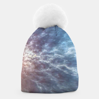 Thumbnail image of Stormy Sky Abstract Print Beanie, Live Heroes