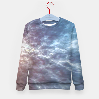 Miniature de image de Stormy Sky Abstract Print Kid's sweater, Live Heroes