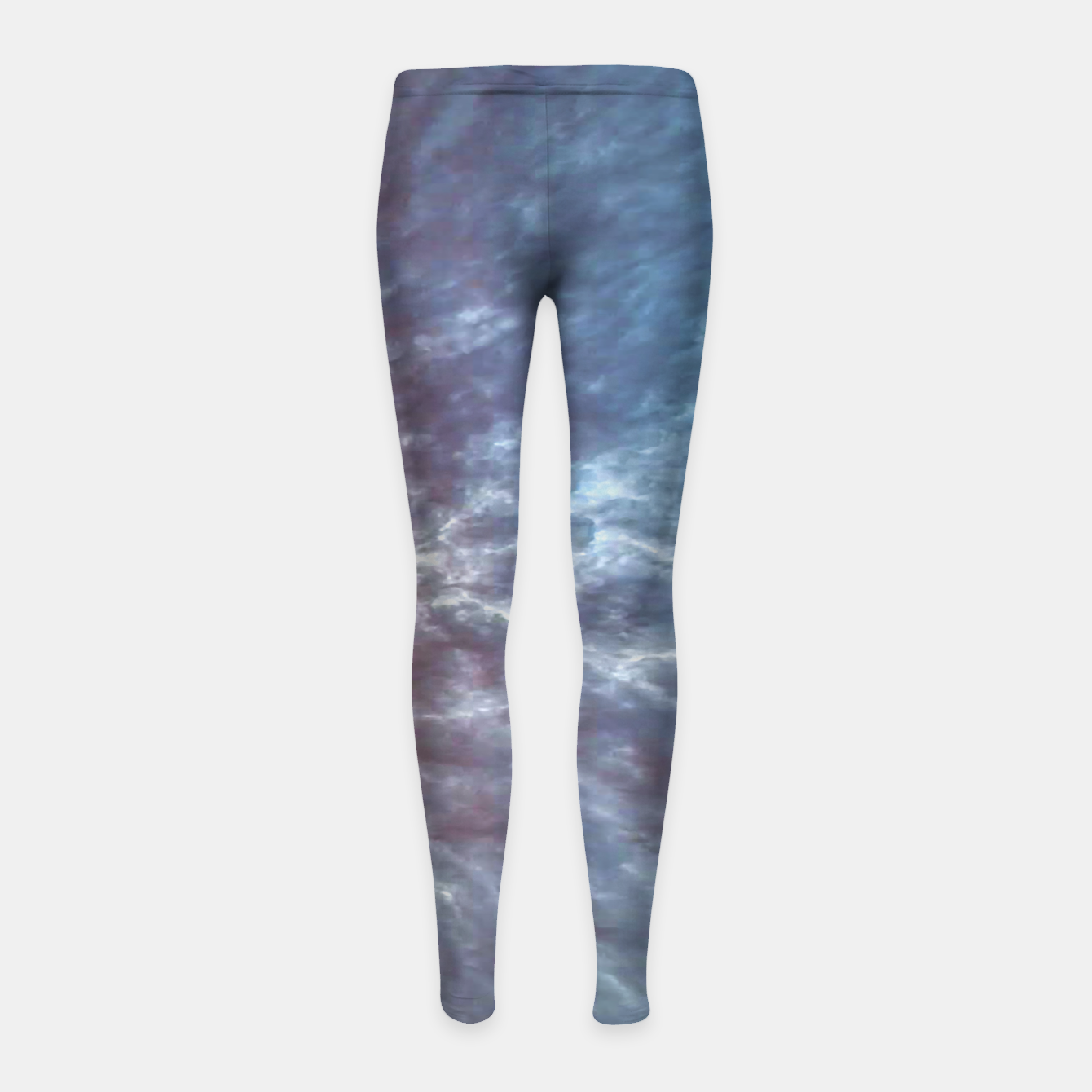 Image of Stormy Sky Abstract Print Girl's leggings - Live Heroes