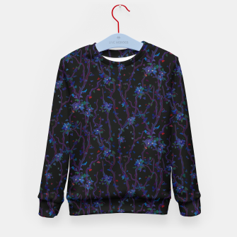Thumbnail image of Blossoming veins of the dark neon world  Kid's sweater, Live Heroes