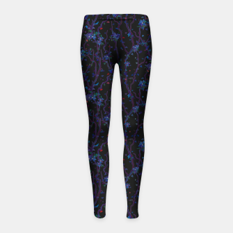 Miniatur Blossoming veins of the dark neon world  Girl's leggings, Live Heroes
