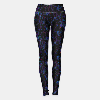Thumbnail image of Blossoming veins of the dark neon world  Leggings, Live Heroes