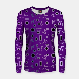Thumbnail image of Mod Purple Shapes Women sweater, Live Heroes