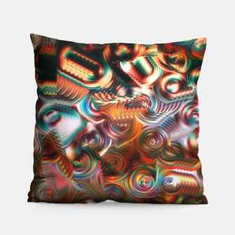 Thumbnail image of Trippy Hippie Psycedelic Rainbow Neon Colors Pillow, Live Heroes