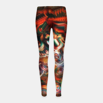 Thumbnail image of Trippy Hippie Psycedelic Rainbow Neon Colors Girl's leggings, Live Heroes