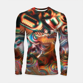 Thumbnail image of Trippy Hippie Psycedelic Rainbow Neon Colors Longsleeve rashguard , Live Heroes