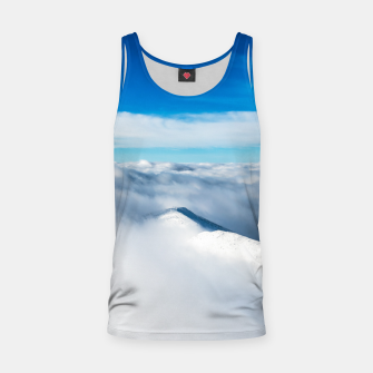 Miniature de image de Snowy winter mounain wrapped in clouds Tank Top, Live Heroes