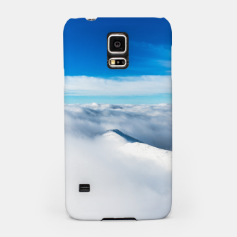 Thumbnail image of Snowy winter mounain wrapped in clouds Samsung Case, Live Heroes