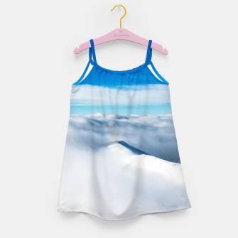 Thumbnail image of Snowy winter mounain wrapped in clouds Girl's dress, Live Heroes