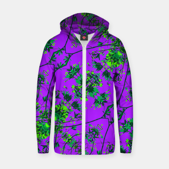 Miniature de image de Modern Floral Collage Pattern Zip up hoodie, Live Heroes