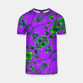 Thumbnail image of Modern Floral Collage Pattern T-shirt, Live Heroes