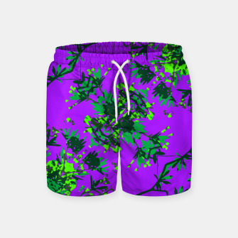 Thumbnail image of Modern Floral Collage Pattern Swim Shorts, Live Heroes