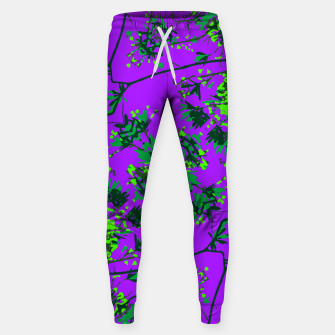 Miniature de image de Modern Floral Collage Pattern Sweatpants, Live Heroes