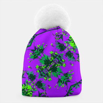 Thumbnail image of Modern Floral Collage Pattern Beanie, Live Heroes