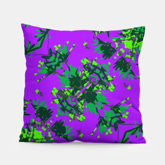 Thumbnail image of Modern Floral Collage Pattern Pillow, Live Heroes