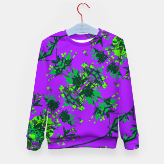 Thumbnail image of Modern Floral Collage Pattern Kid's sweater, Live Heroes