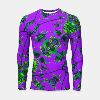 Thumbnail image of Modern Floral Collage Pattern Longsleeve rashguard , Live Heroes