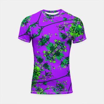 Thumbnail image of Modern Floral Collage Pattern Shortsleeve rashguard, Live Heroes