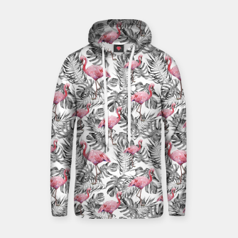 Miniatur TROPICAL LEAVES AND FLAMINGOS 2 Hoodie, Live Heroes