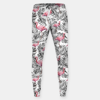 Miniatur TROPICAL LEAVES AND FLAMINGOS 2 Sweatpants, Live Heroes
