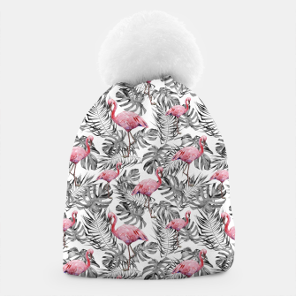 Miniatur TROPICAL LEAVES AND FLAMINGOS 2 Beanie, Live Heroes