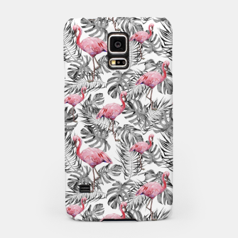 Miniatur TROPICAL LEAVES AND FLAMINGOS 2 Samsung Case, Live Heroes