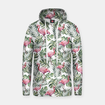 Miniatur TROPICAL LEAVES AND FLAMINGOS Hoodie, Live Heroes