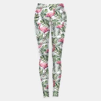 Miniatur TROPICAL LEAVES AND FLAMINGOS Leggings, Live Heroes