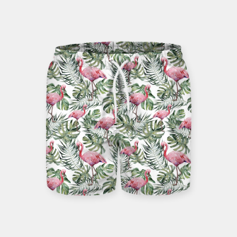 Miniatur TROPICAL LEAVES AND FLAMINGOS Swim Shorts, Live Heroes