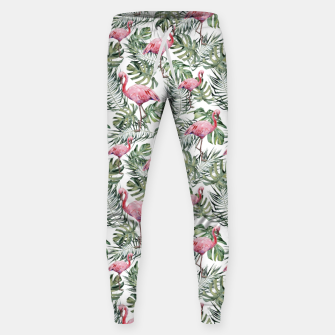 Miniatur TROPICAL LEAVES AND FLAMINGOS Sweatpants, Live Heroes