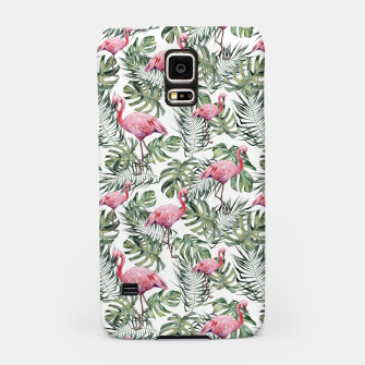 Miniatur TROPICAL LEAVES AND FLAMINGOS Samsung Case, Live Heroes